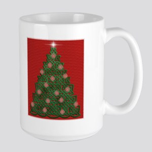 Celtic Christmas Tree Large Mug